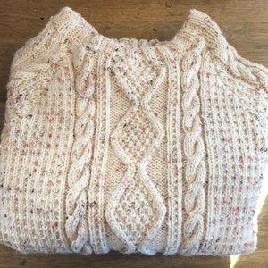 Beautifully hand knit fisherman's style sweater